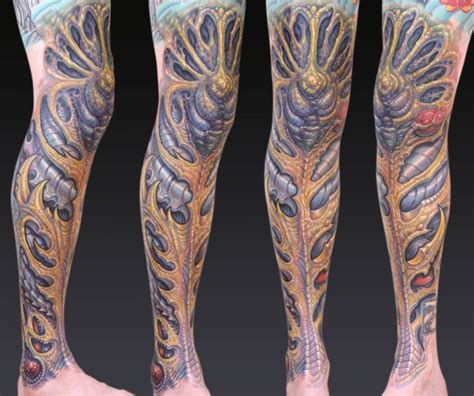 biomechanical tattoo leg sleeve biomechanical tattoos and designs page 227