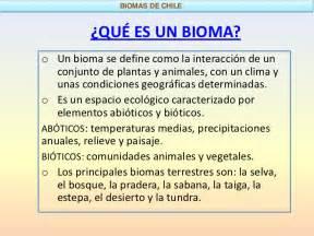 que son los biomas los biomas de chile