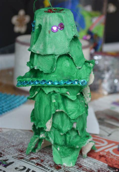 4h christmas tree from old egg carton egg trees the sensory seeker