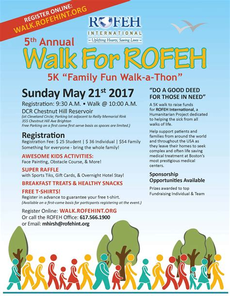 Walk For Rofeh 5k Family Fun Walk A Thon Quot Israeli American Council Walk A Thon Flyer Template