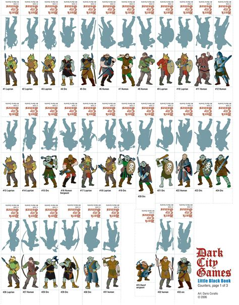 printable paper miniatures d d rpg inspiration free paper minis for rpg