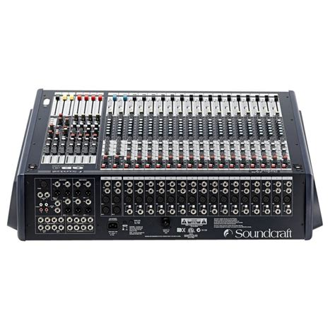 soundcraft gb4 16 16 channel mixer box opened at
