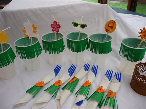 Hawaiian Decorations by Italian Dinner Decoration S Crafting Space