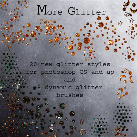 more glitter styles amp brushes 2d graphics merchant