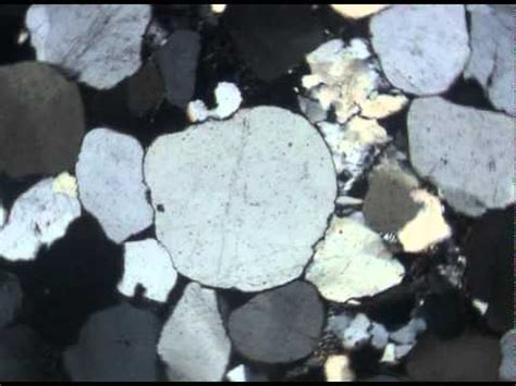 quartz in thin section quartz in aeolian sandstone xpl youtube
