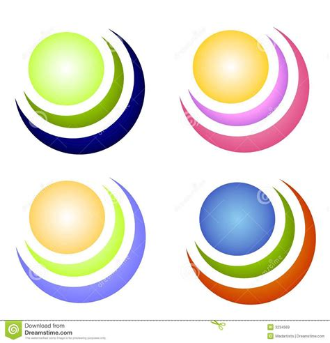 colorful circle logo colorful circle icons or logos royalty free stock images