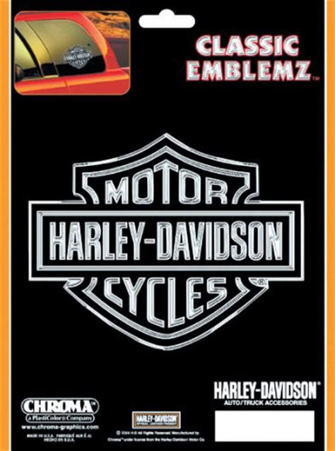 Window Decals Harley Davidson by Harley Davidson Classic Emblemz Decal Chr3017