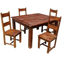 rustic solid wood appalachian dining room table amp chair set