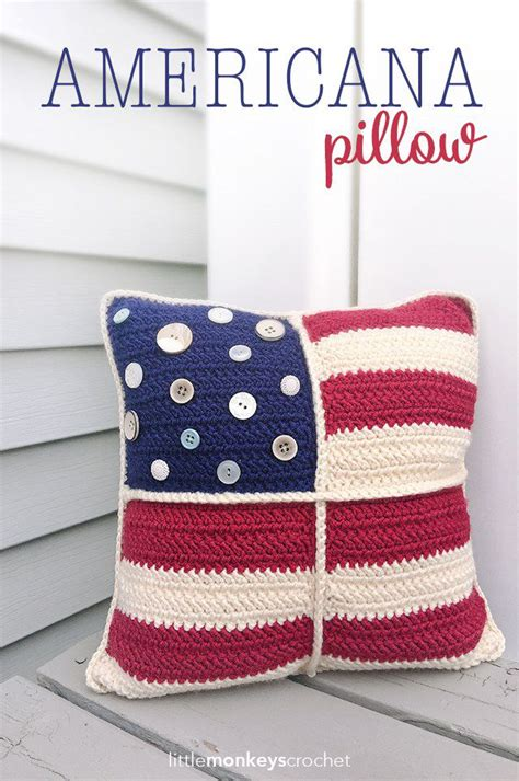 Monkey Stripe Pillow Medium 58cm crochet american flag free patterns