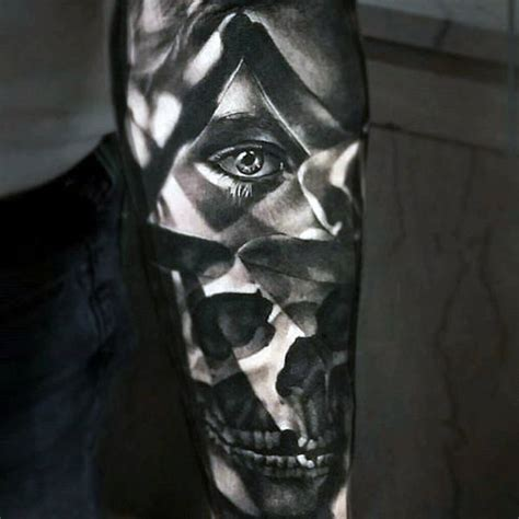 100 optical illusion tattoos for men eye deceiving designs