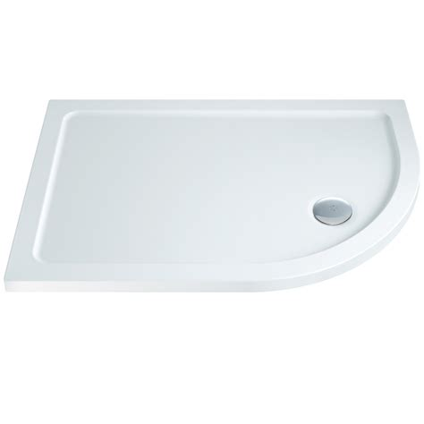 Slimline Shower Tray 1200 X 800 by Elements Slimline Offset Quadrant Shower Tray 1200 X 800