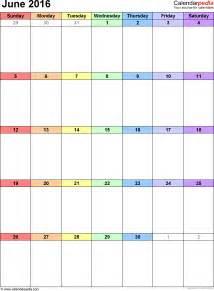Small Desktop Monthly Calendar June 2016 Calendars For Word Excel Pdf