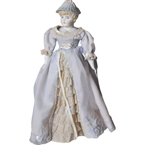 parian doll parian bisque doll with molded bonnet from terristreasures