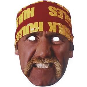 wwe hulk hogan cardboard face mask partyrama