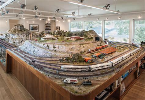 living room train layout keeping tracks a model train set as autobiography