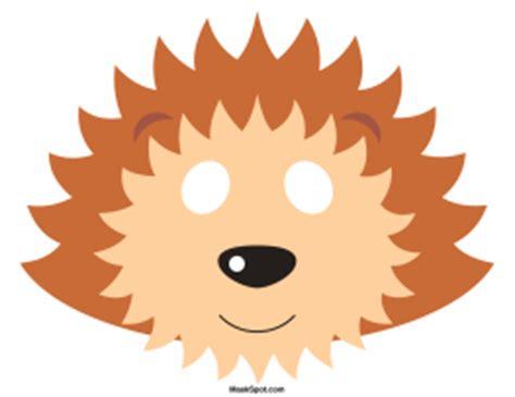 Free Printable Hedgehog Mask Template | printable hedgehog mask