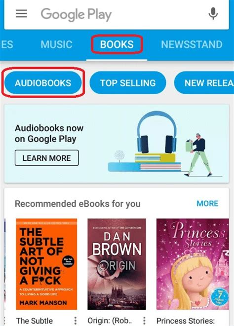 Play Store Books How To Get Started With Audiobooks On Play Store