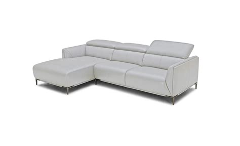 modern gray sofa divani casa sansa modern grey leather sectional sofa