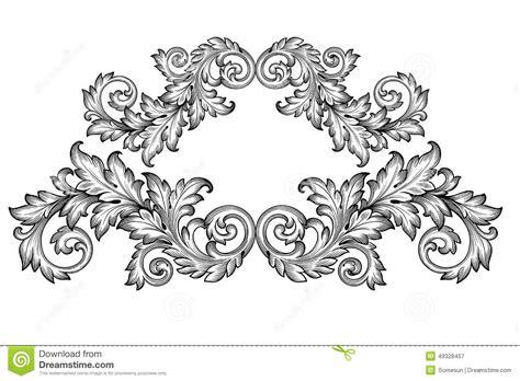 vintage ornament vector pattern vintage baroque frame scroll ornament vector stock vector