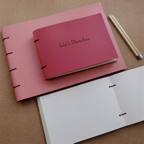 sketchbook refill personalised refillable leather sketch book by artbox