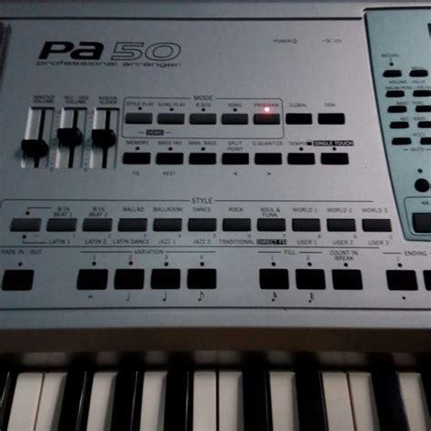 jual beli keyboard korg pa 50 emulator bekas jual