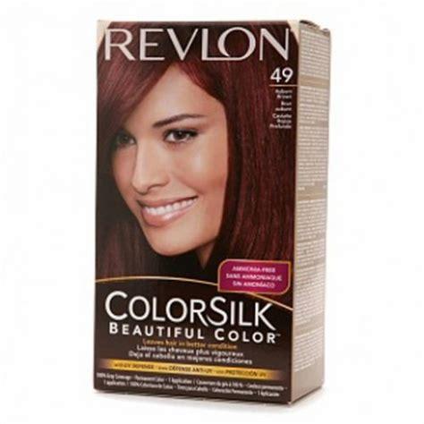 revlon colorsilk colors revlon colorsilk hair color dye auburn brown 49 hair
