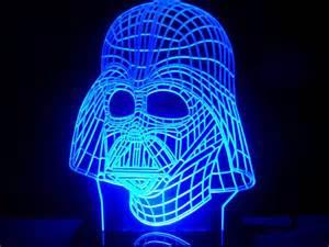 stunning star wars darth vader face mask led desk light