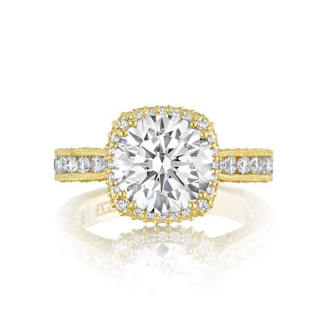 tacori style ht2607rd9y cut yellow gold