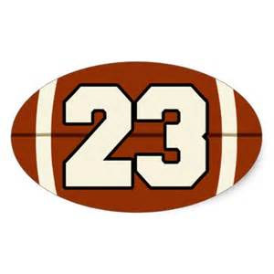 The number 23 football sticker zazzle