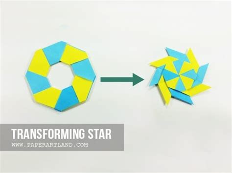 How To Make A Origami Frisbee - how to make an origami transforming frisbee