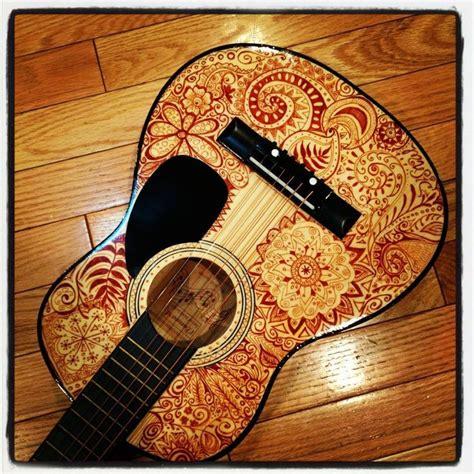 henna design guitar hand painted guitars guitar art pinterest