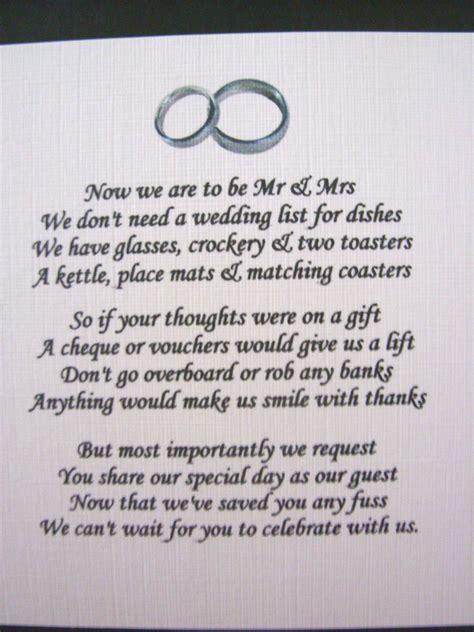 wedding invitation no gifts no gift request for wedding wedding o
