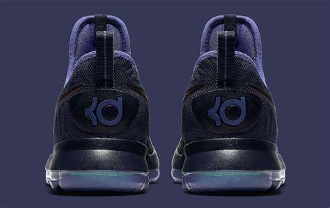 imagenes tenis nike ifor nike kd 9 obsidian dark purple dust black 843392 450