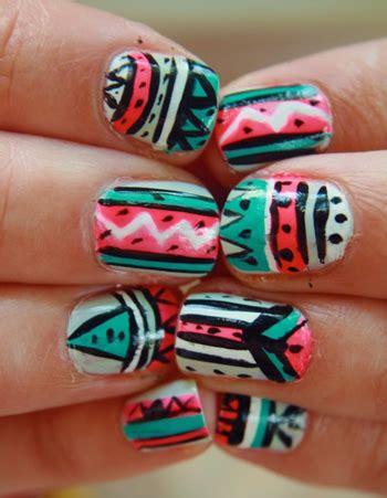 imagenes de uñas tribales manicura u 241 as tribales dise 241 o tribal tendencias en u 241 as