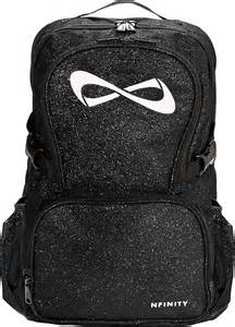 Infinity Cheer Backpacks Nfinity Black Sparkle Backpack W White Logo