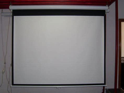 Layar Proyektor 70 Wall Screen wallscreen projector manual layar gantung size 70inch