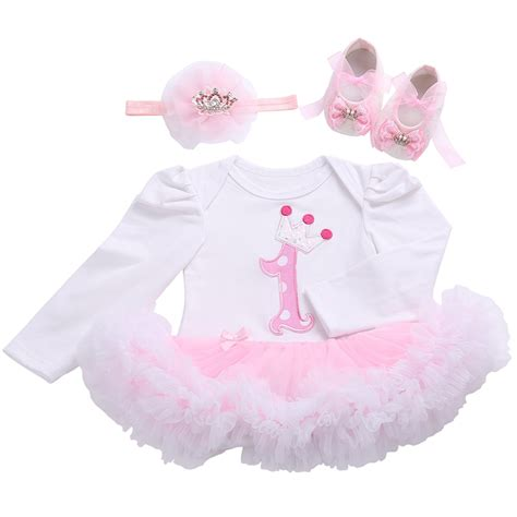 Set Shoes And Set Tutu With Name For Baby 0 12 Bulan birthday tutu set newborn clothing ruffle baby clothes baby christening gowns
