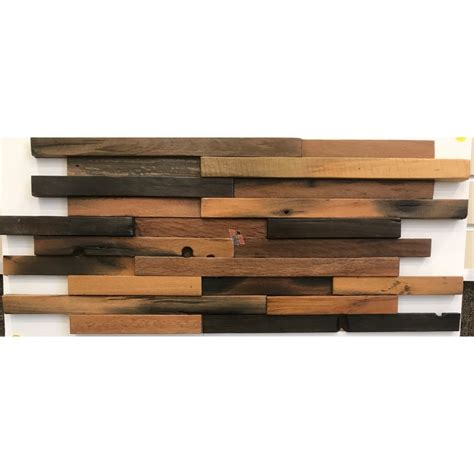3d holey wood 50 28 in x 12 in reclaimed wood decorative wall buy random plank 3d 12x24 antique wood panel wood mosaic