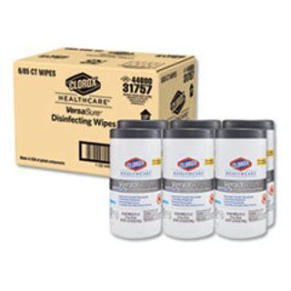 hesco  clorox healthcare versasure cleaner disinfectant wipes  ply    white