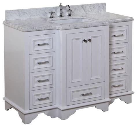 beachy bathroom vanities nantucket 48 in bath vanity carrara white transitional