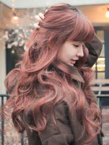 popular hair colour for korean sweet romantic asian hairstyles for young women pretty
