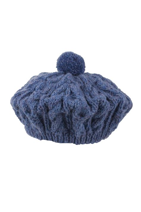 knitted beret knitted luxury aran ballater beret by scotweb