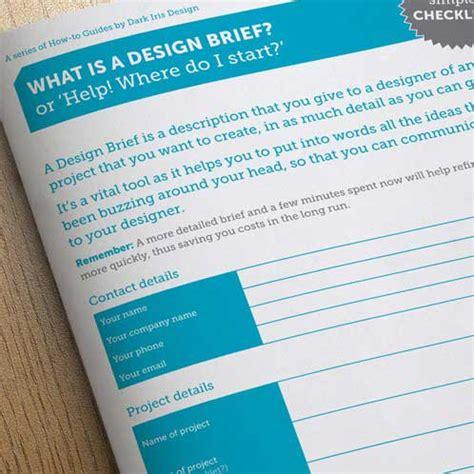 design brief guide graphic design portfolio www darkirisdesign co uk