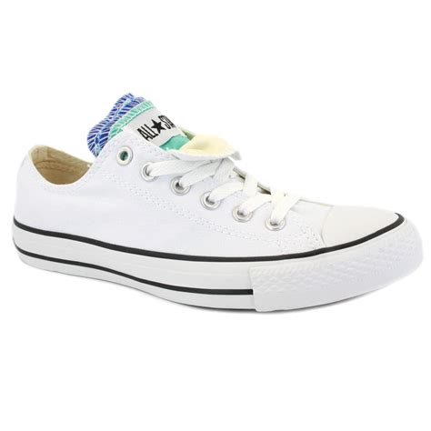 converse all multi tongue womens laced canvas