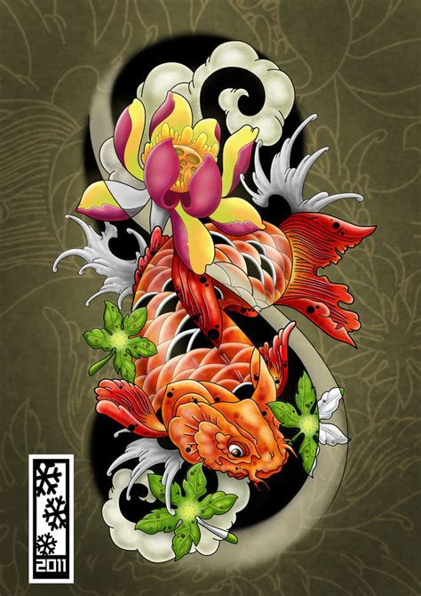 koi tattoo flash 166 art by tylerrthemesmer tattoo me