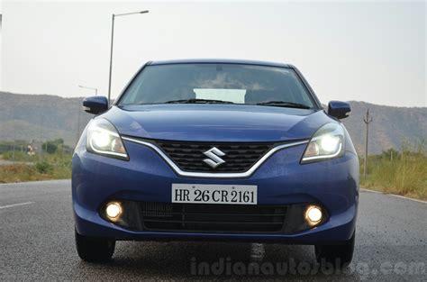 Suzuki Baleno Diesel Maruti Baleno Diesel Front With Lights Review Indian