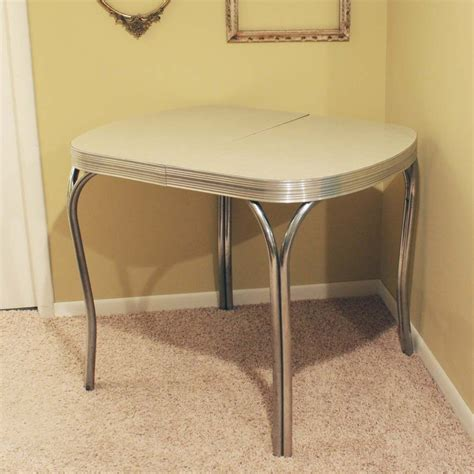 vintage kitchen dinette table formica top gray by