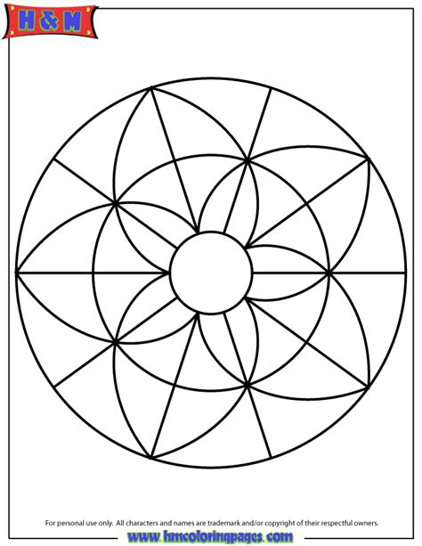 mandala coloring pages easy simple mandala coloring page printout h m coloring pages