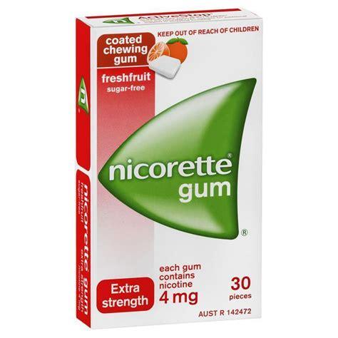 Dr Dental Box Bukan Tester Original 2 nicorette gum 4mg fresh fruit pieces 30 epharmacy
