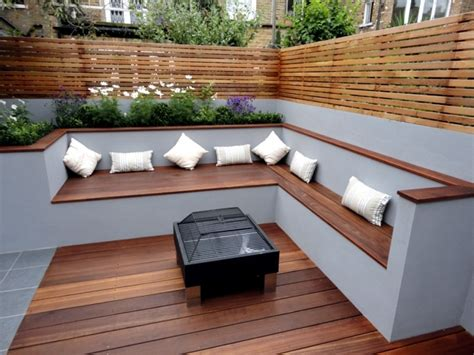 patio bench seating awesome modern outdoor wood furniture options to complete